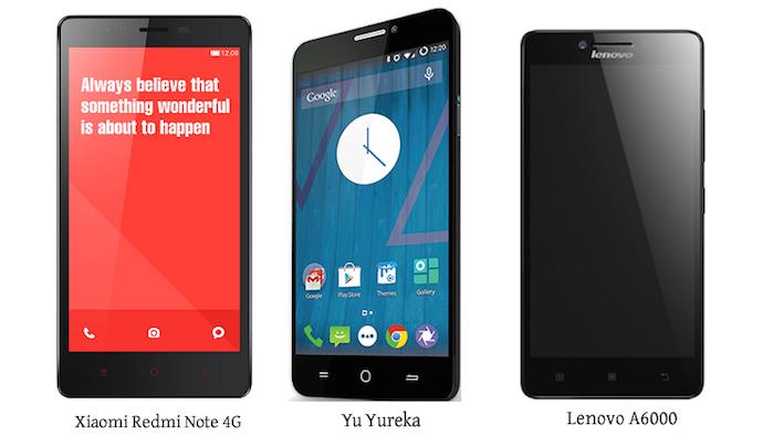 Xiaomi redmi note vs yu yureka vs lenovo a6000 – souboj specifikací
