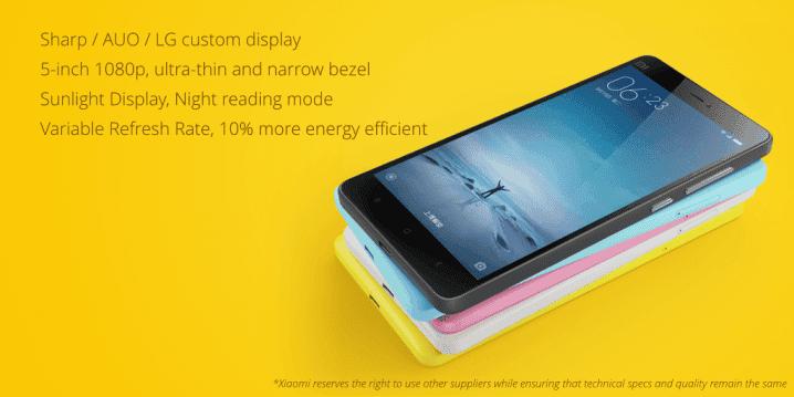 Xiaomi MI 4c displej