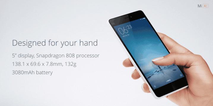 Xiaomi MI 4c rozměry