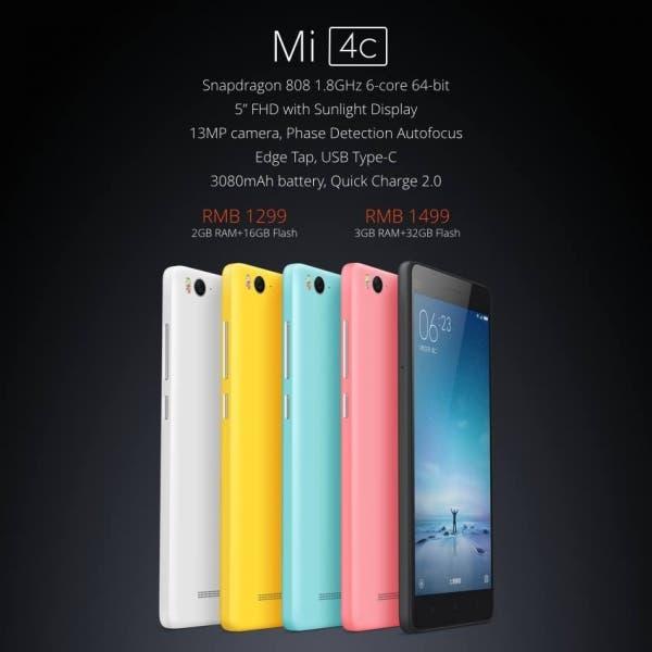 Xiaomi MI 4c spec