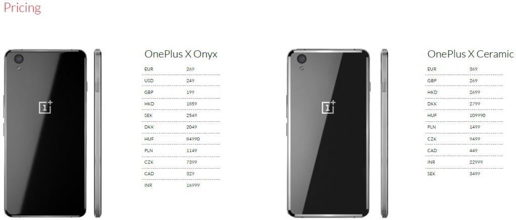 OnePlus-X-ceny