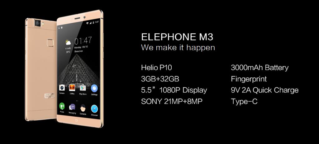 12 ELEPHONE M3