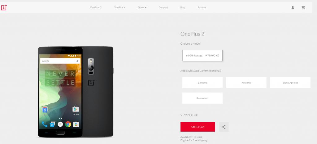 OnePlus 2 sleva
