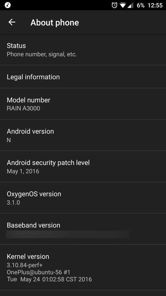 OnePlus 3 on Androdi N