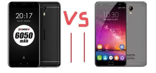 Ulefone Power 2 vs Oukitel K6000 Plus
