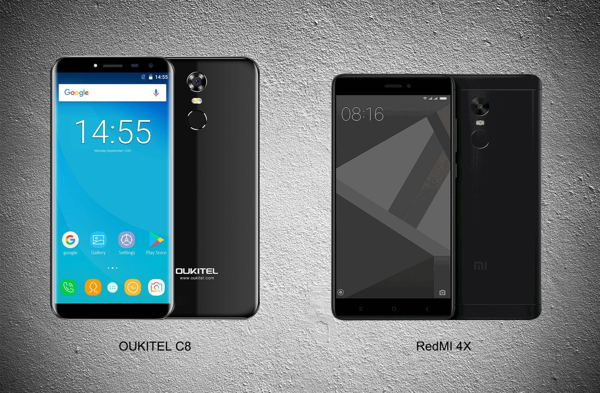 Oukitel C8 Xiaomi Redmi 4X
