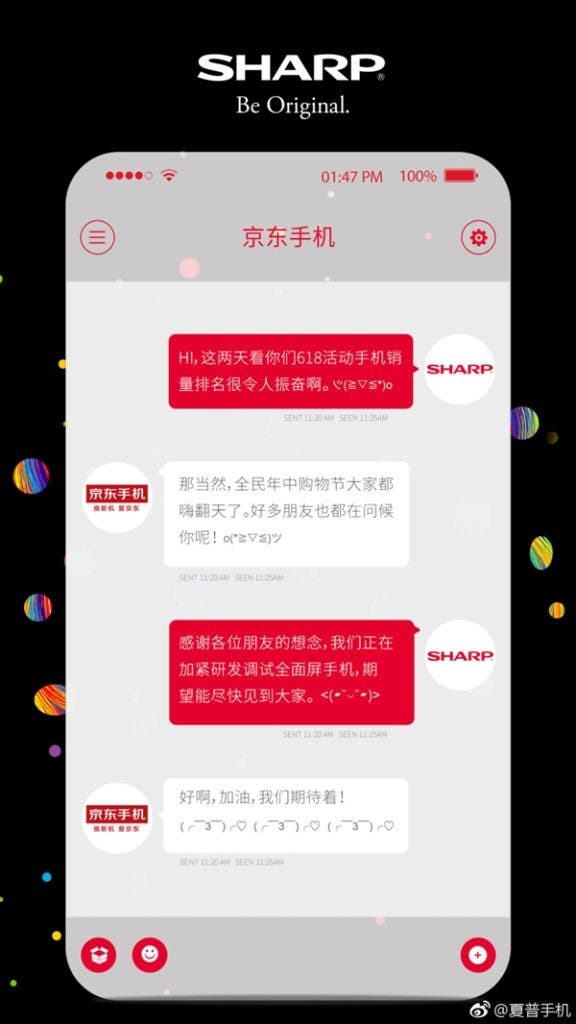 Full Screen telefon