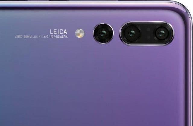 Trojitý fotoaparát Huawei