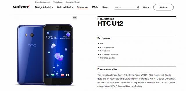 specifikace HTC U12