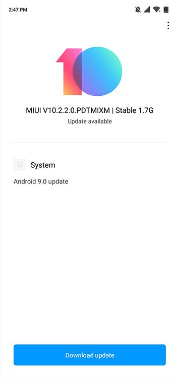 MIUI 10.2.2.