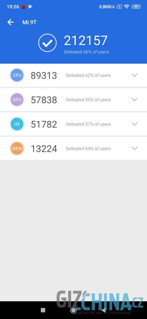 Xiaomi Mi 9T - AnTuTu