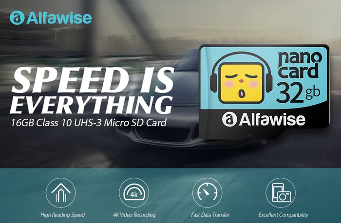 Alfawise SD karty
