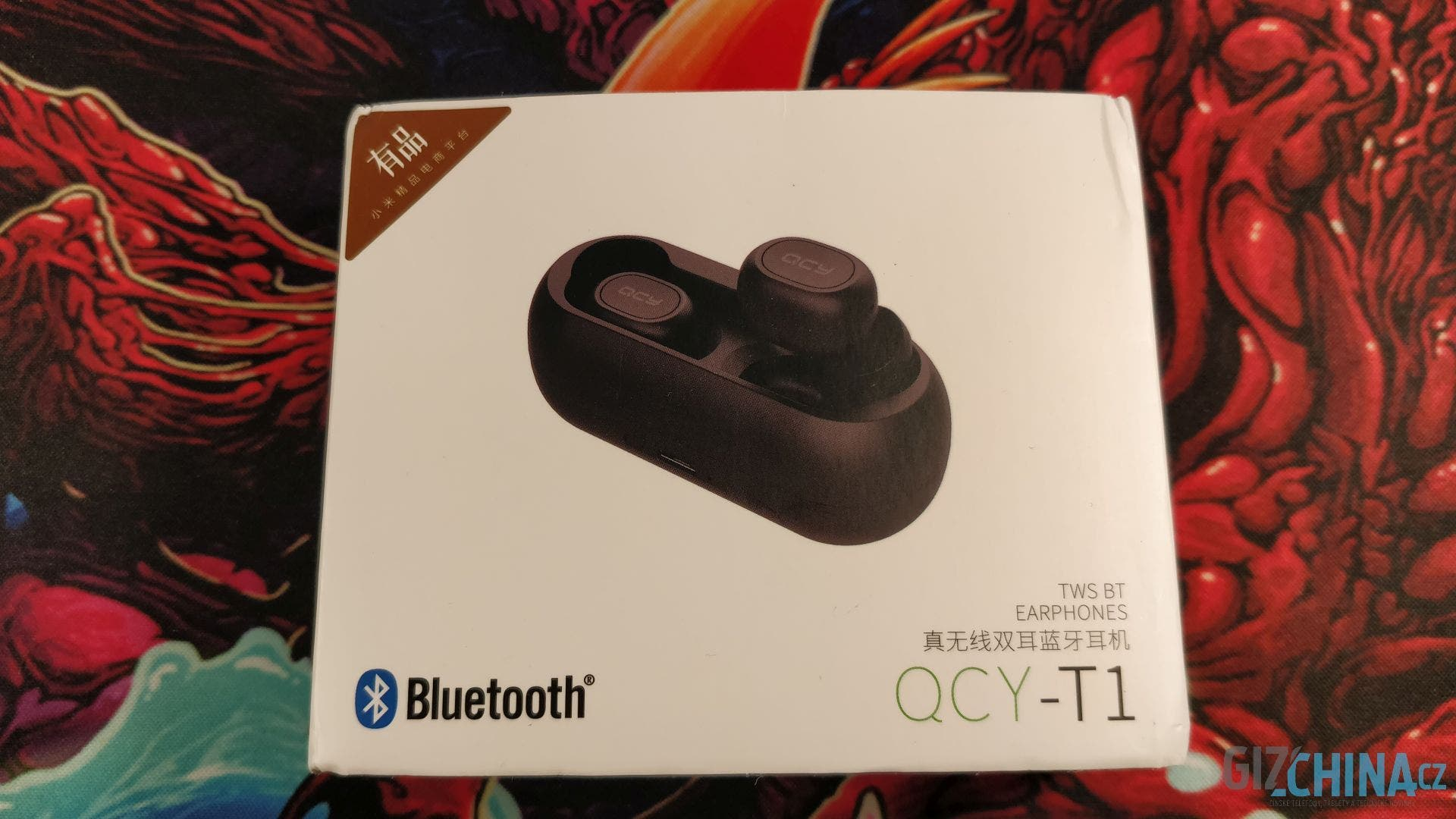 Balení sluchátek QCY-T1